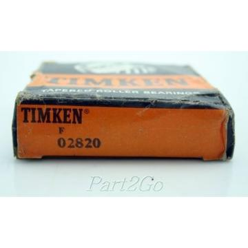 TIMKEN 02820 Tapered Roller Bearings Outer Race Cup, Steel