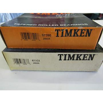 Timken 67390 20024 / 67322 20024 Taper Cup/Cone Set FREE SHIPPING