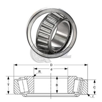 2x 749-742 Tapered Roller Bearing QJZ New Premium Free Shipping Cup & Cone Kit