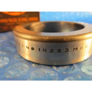 """Timken 14283 Tapered Roller Bearing Single Cup 2.838"""" OD x 0.7250"""" Wide"""