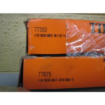 New Timken 77350 77675 Tapered Roller Bearing Cone Cup Set Free Shipping