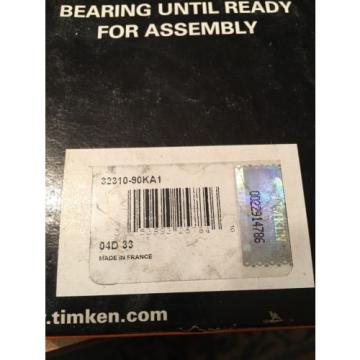 Timken ISOClass 32310-90KA1 Tapered Roller Bearings-New In Box