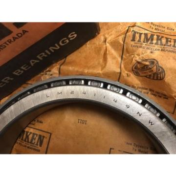 LM241149NW Timken Cone for Tapered Roller Bearings Single Row - NEW - FREE SHIP